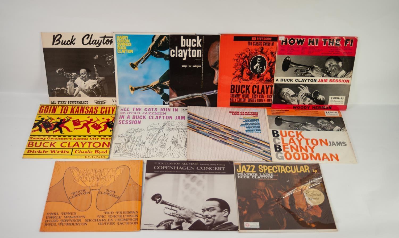 JAZZ, VINYL RECORDS- C IS FOR BUCK CLAYTON-GOING TO KANSAS CITY, Riverside (RLP 353), original UK - Image 2 of 2