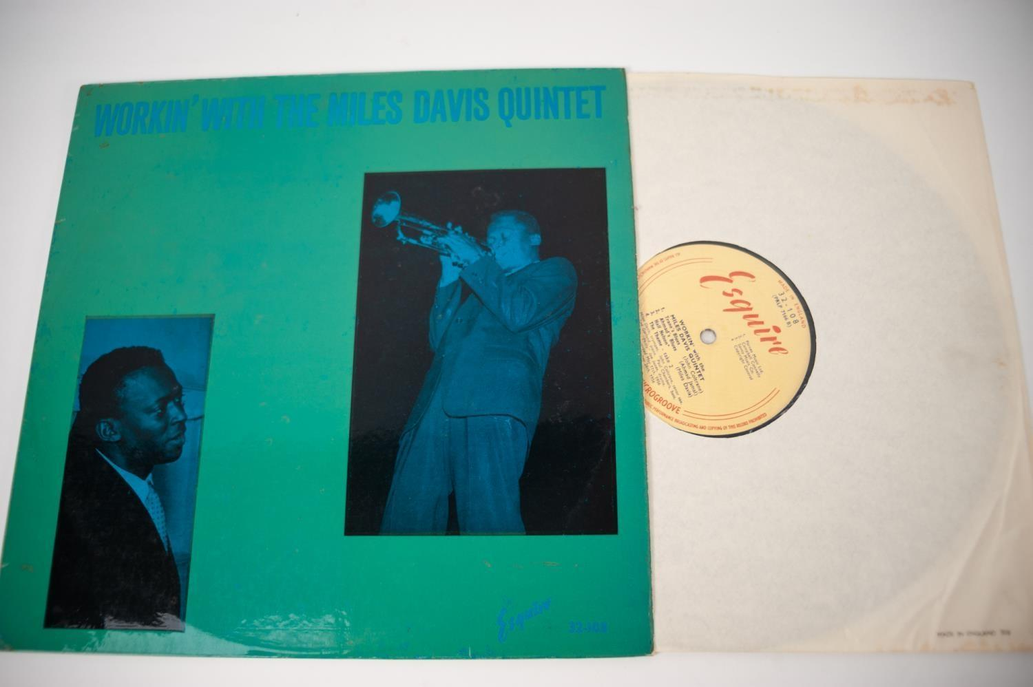 JAZZ, VINYL RECORDS- D IS FOR MILES DAVIS- WORKIN? WITH THE MILES DAVIS QUINTET, Esquire (32-108), - Image 3 of 4