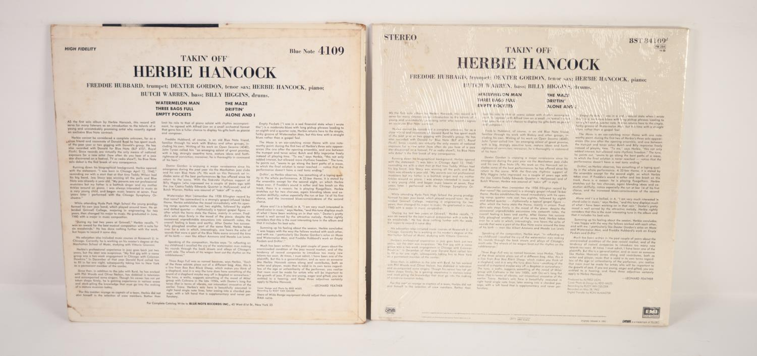 JAZZ, VINYL RECORDS-H IS FOR HERBIE HANCOCK-TAKIN OFF, Blue Note (BLP 4109). Original US, Mono Van - Image 2 of 4