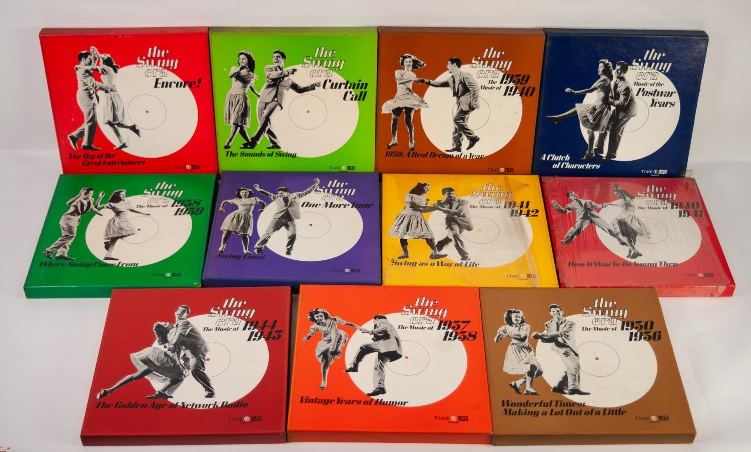 JAZZ, VINYL RECORDS- C IS COMPILATION- Various boxed sets from the SWING ERA series released by Time