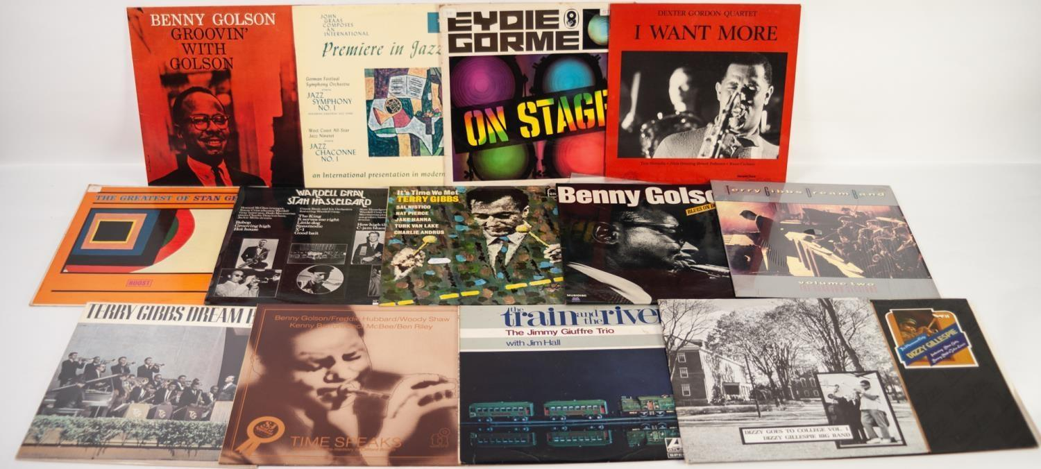 JAZZ, VINYL RECORDS-G IS FOR TERRY GIBBS-ITS TIME WE MET, Fontana, (TL 5275). BENNY GOLSON-BLUES