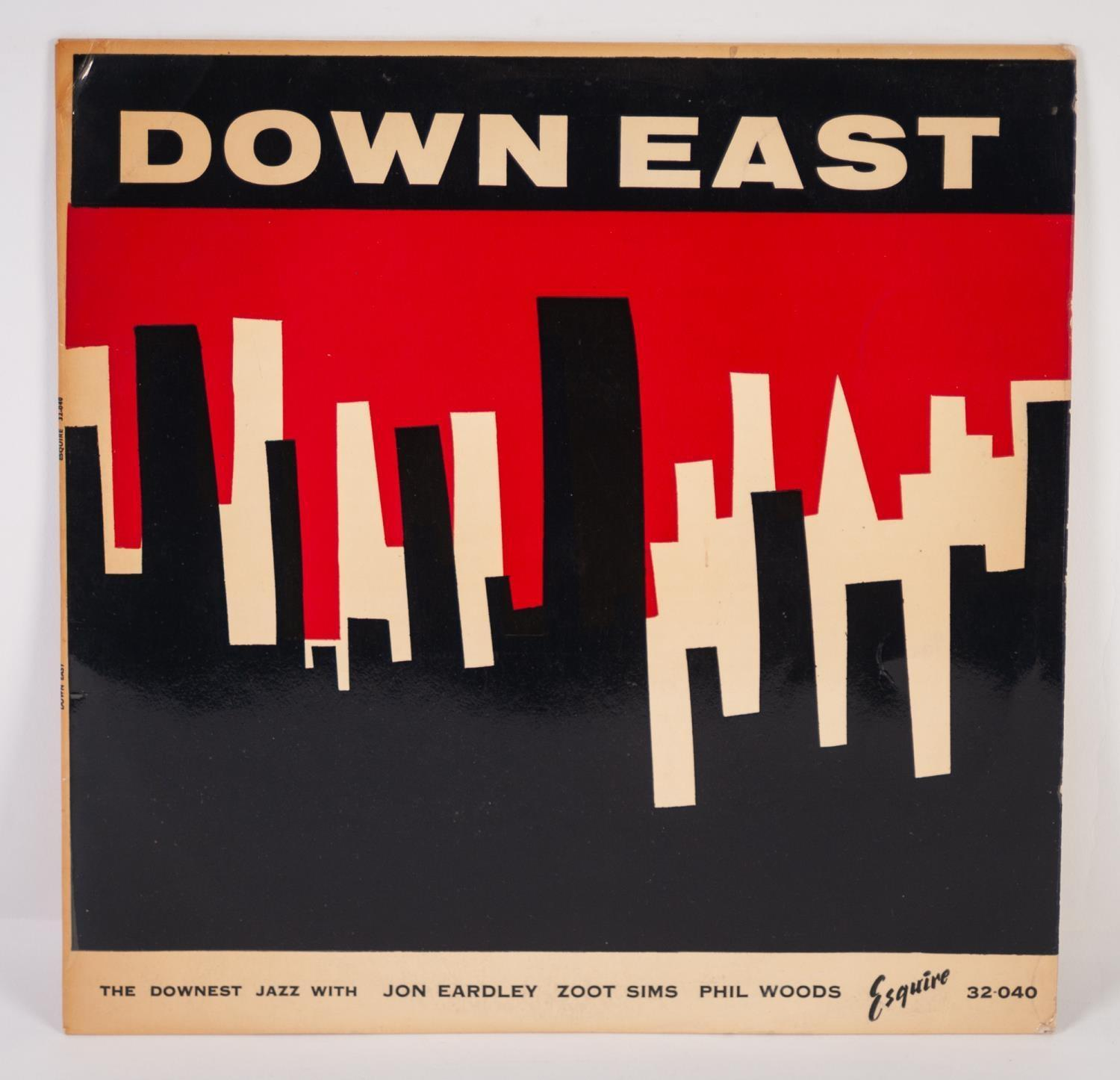 JAZZ, VINYL RECORDS- E IS FOR JON EARDLEY SEVEN-DOWN EAST, THE DOWNEST JAZZ WITH JON EARDLEY, ZOOT