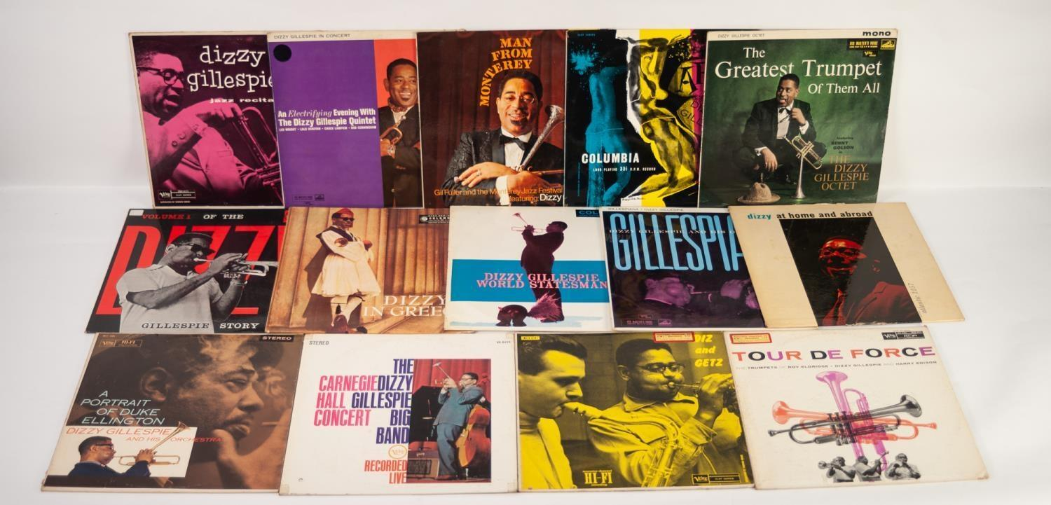 JAZZ, VINYL RECORDS-G IS DIZZY GILLESPIE, THE GREATEST TRUMPET OF THEM ALL, HMV (CLP 1381). Diz