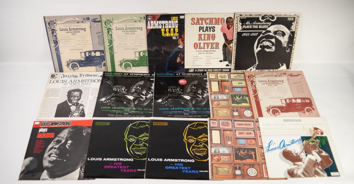 JAZZ, VINYL RECORDS- A IS FOR LOUIS ARMSTRONG (Satchmo) and Eddie Condon-LIVE AT NEWPORT, Philips ( - Image 2 of 3