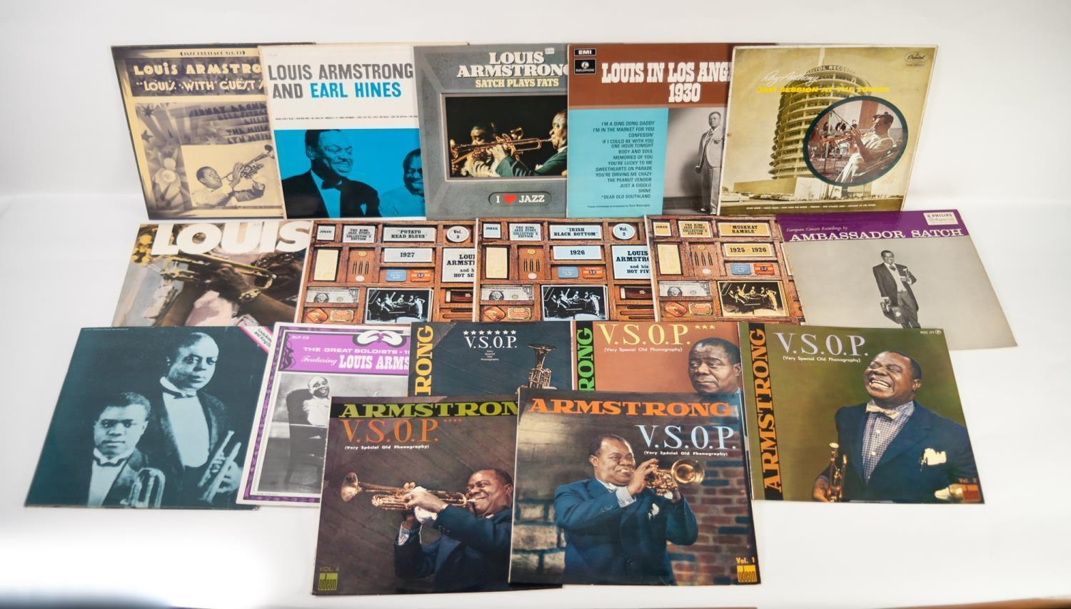 JAZZ, VINYL RECORDS- A IS FOR LOUIS ARMSTRONG (Satchmo) and Eddie Condon-LIVE AT NEWPORT, Philips ( - Image 3 of 3