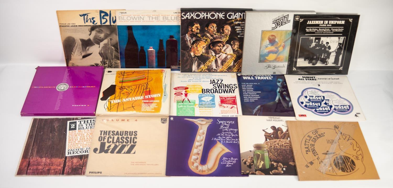 JAZZ, VINYL RECORDS- C IS COMPILATION- THE BLUES PACIFIC JAZZ RECORDS, Vogue (LAE 12063), original