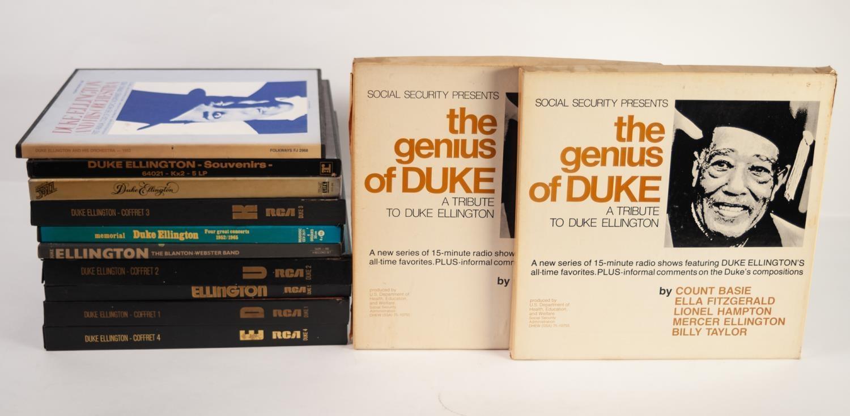 JAZZ, VINYL RECORDS- E IS FOR DUKE ELLINGTON- THE WORKS OF DUKE, complete series of 5 box sets
