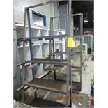 Lot of 2 Upright Racks with open shelves