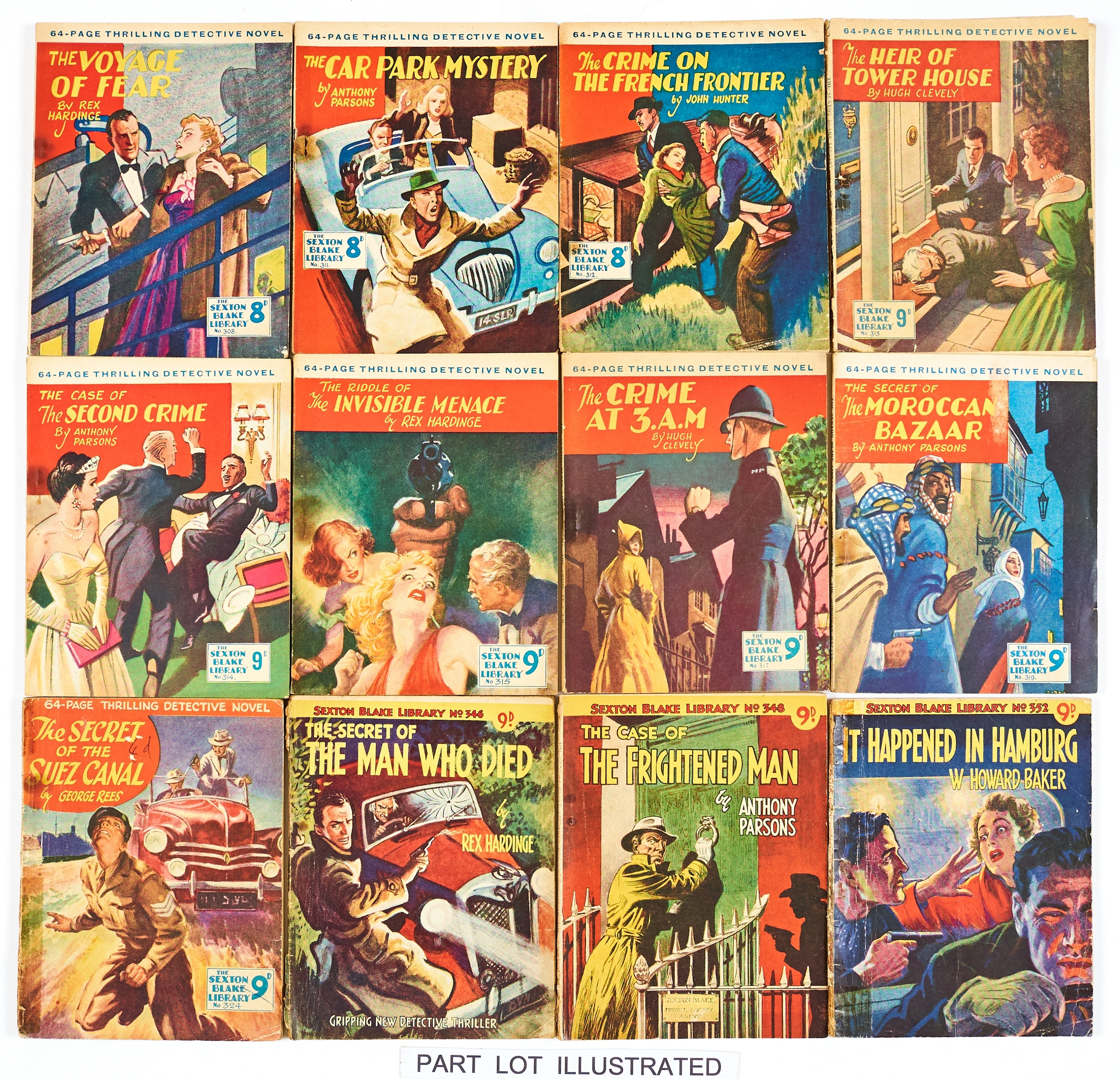 Lot 35 - Sexton Blake Library (1950s). 6 covers by Reginald Heade. 294, 297, 302 (x2), 304, 308, 310-315,
