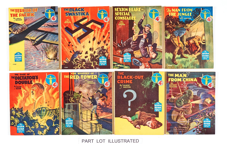 Lot 33 - Sexton Blake Library (1940) 701-722. Half-year of stories by John G Brandon, Allan Blair, Gilbert