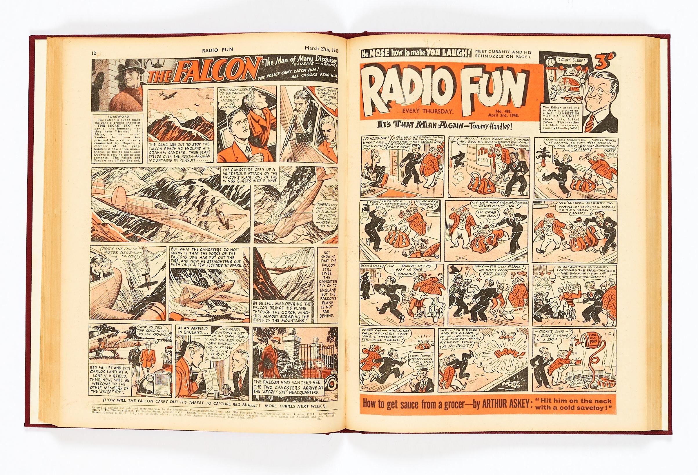 Lot 31 - Radio Fun (Jan-Jun 1948) 482-507. Publisher's file copies in half-year bound volume. Starring
