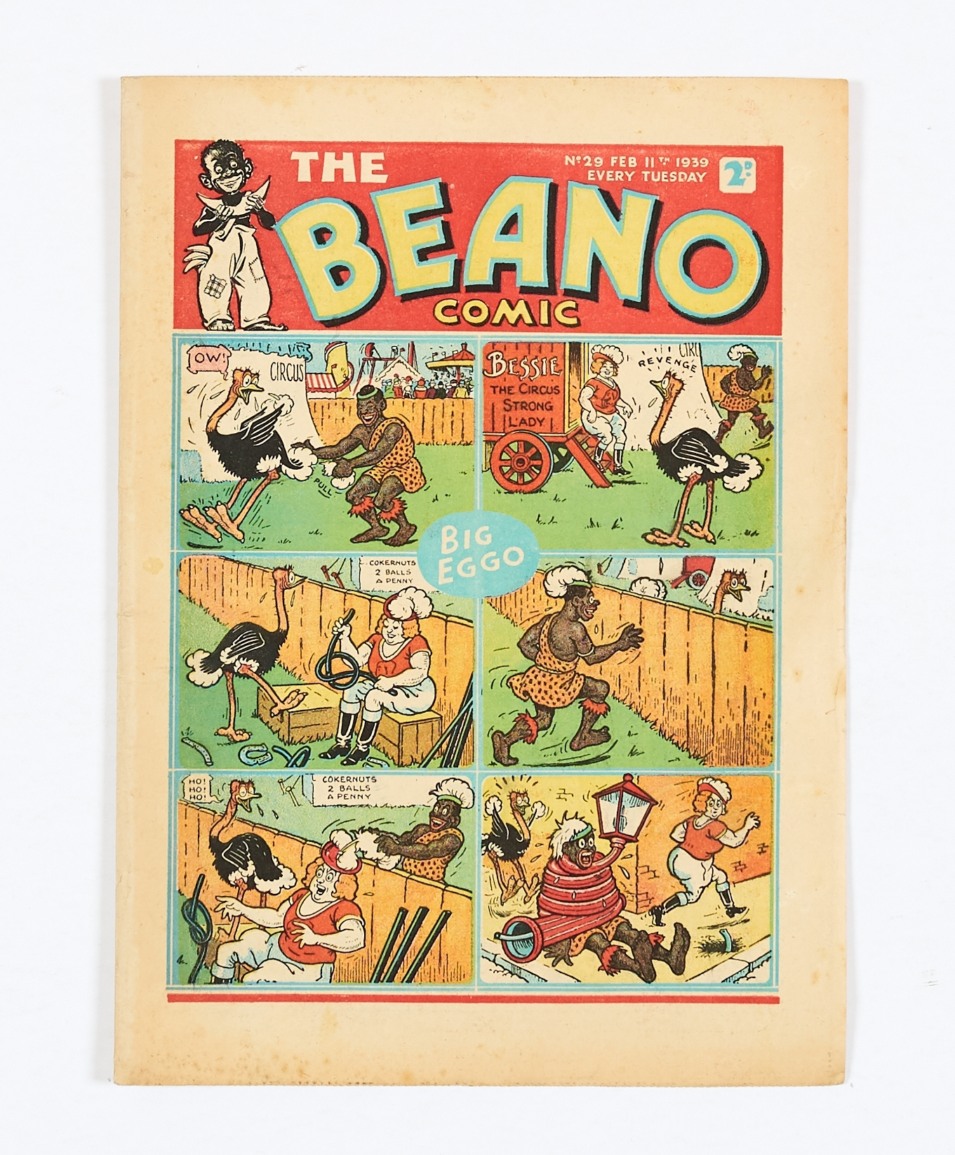 Lot 23 - Beano No 29 (1939). Bright covers, cream/light tan pages [fn-]