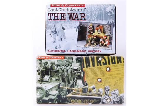 MILITARY DIECAST FIGURES: Two original ' King & Country