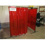 "72"" x 72"" x 72"" High Square Welding Curtain"