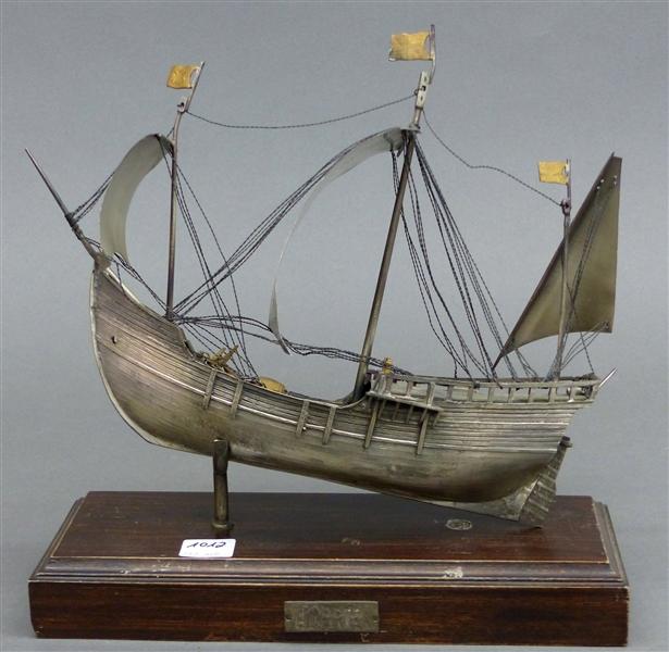 modellschiff nina 800 silber punziert eines der schiffe von christoph kolumbus handarbeit a. Black Bedroom Furniture Sets. Home Design Ideas
