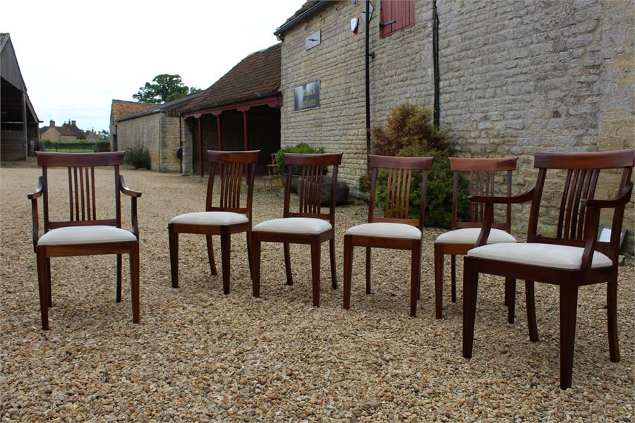 Lot 59 - Six dining chairs