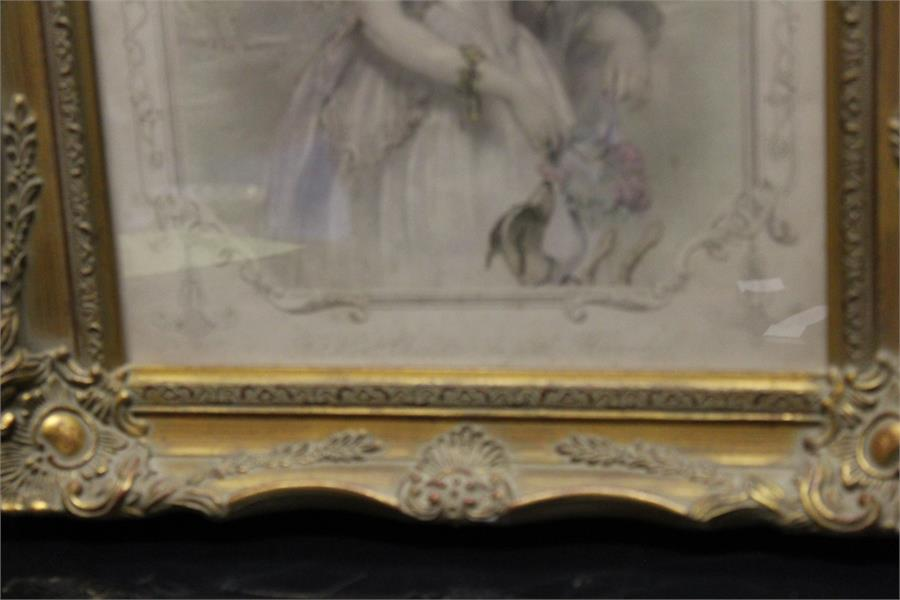 """Lot 161 - Two engravings in frames after John Hayter & H.Robinson - W&F Holl """"the Hon. Charlotte Augusta"""