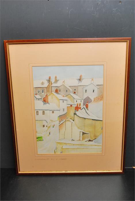 "Lot 174 - Watercolour painting bearing inscription in pencil ""H Hayward 'Cockermouth""."