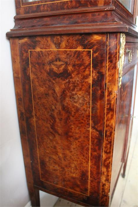 Lot 112 - A Fine quality early 20th century French burr yew , inlaid and ormolu glass, mirror backed,