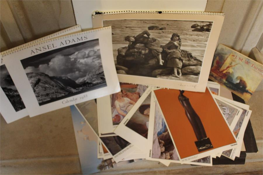 """Lot 126 - Printed items including Canaries exhibition prints, Ansell calendars and """"A Photographic Heritage"""" -"""