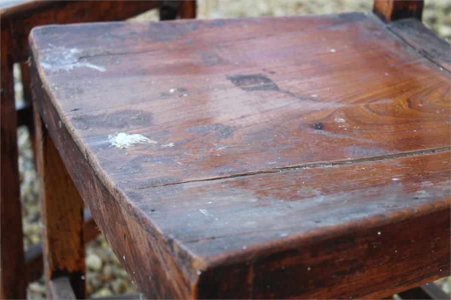Lot 49 - two oak country chairs for restoration, possibly East Anglian.