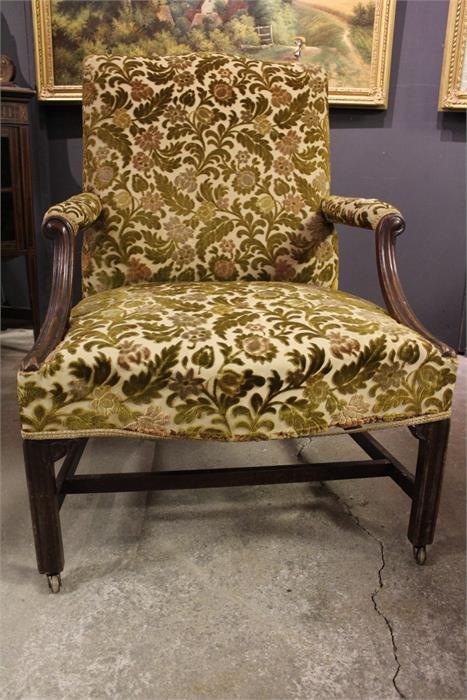 Lot 106 - A Fine and important Mahogany Gainsborough armchair - late George II / Early George III period