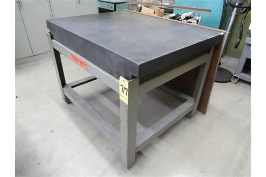 & Brown u0026 Sharpe Granite Surface Plate w/ Stand 36