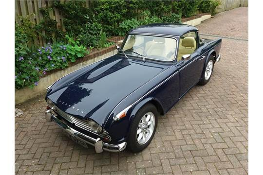 A 1966 Triumph Tr4a Registration Number Grw 474d Blue The