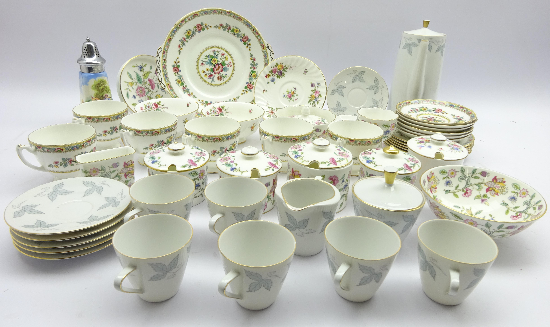 Lot 64 - Minton 'Haddon Hall' china with gilded highlights, Coalport teaware,