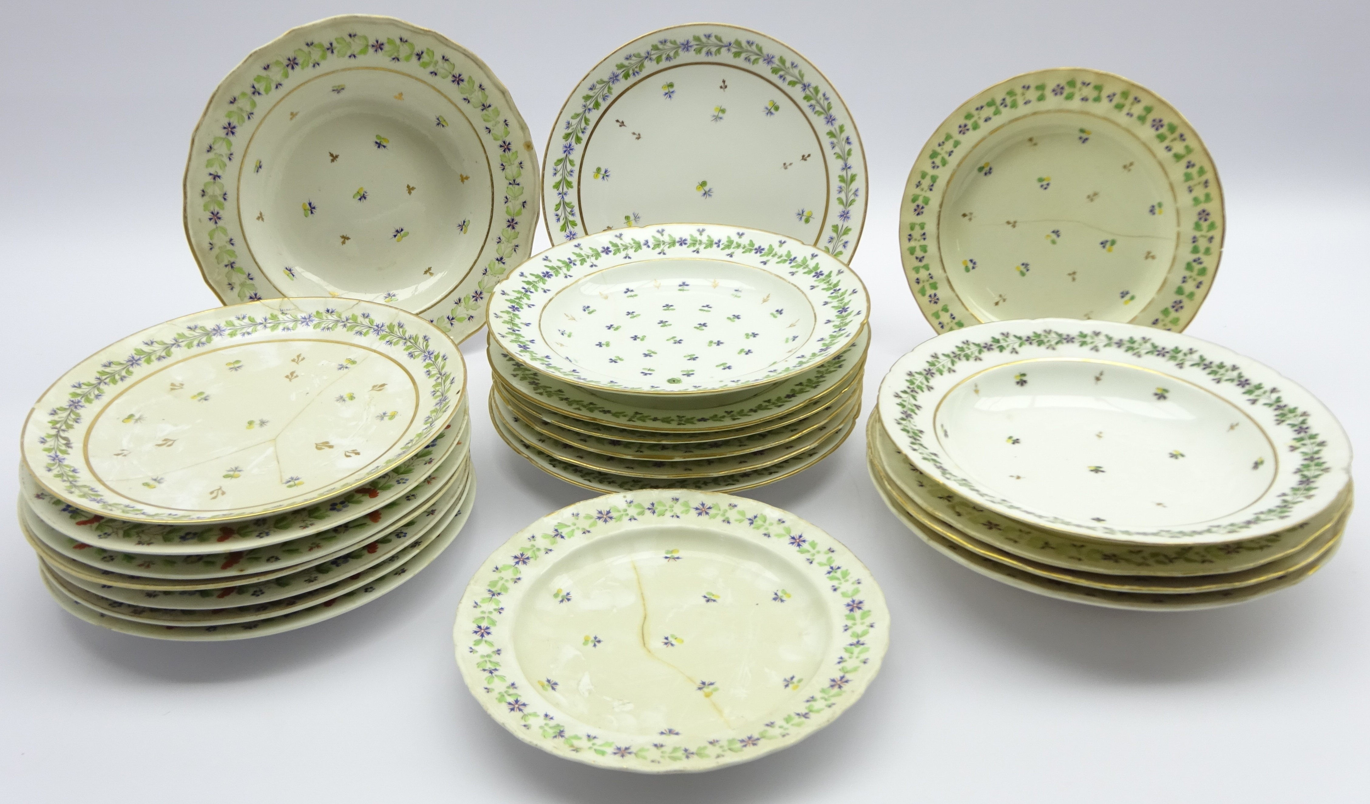 Lot 40 - Assortment of 19th century English and Continental tableware, including Copeland,