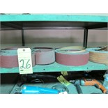 LOT OF GRINDING BELTS, assorted