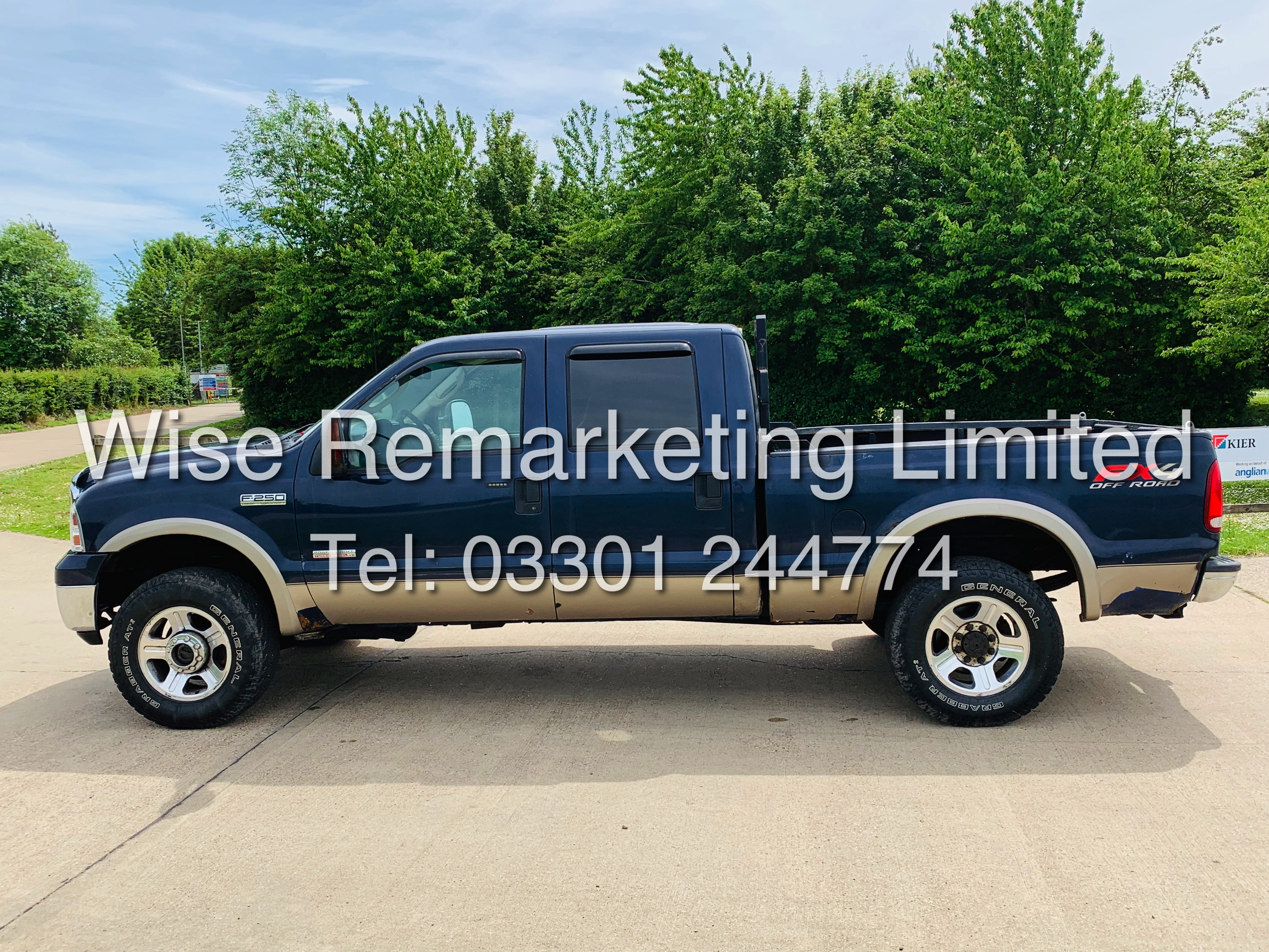 FORD F-250 6.0L V8**DIESEL**2007**4X4*LARIAT SPEC**DOUBLE-CAB**ULTRA RARE**FRESH IMPORT** - Image 7 of 18