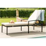 Rattan Austin Sun Lounger (Brown) *BRAND NEW*