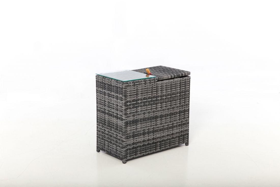 Rattan Ice Bucket Side Table (Grey) *BRAND NEW* - Image 2 of 2
