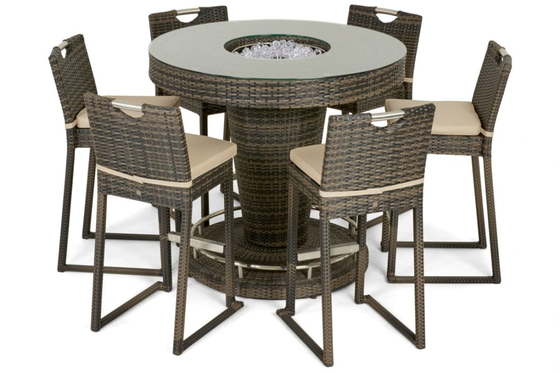 Rattan 6 Seat bar Set With Ice Bucket Feature (Brown) *BRAND NEW* - Image 2 of 2