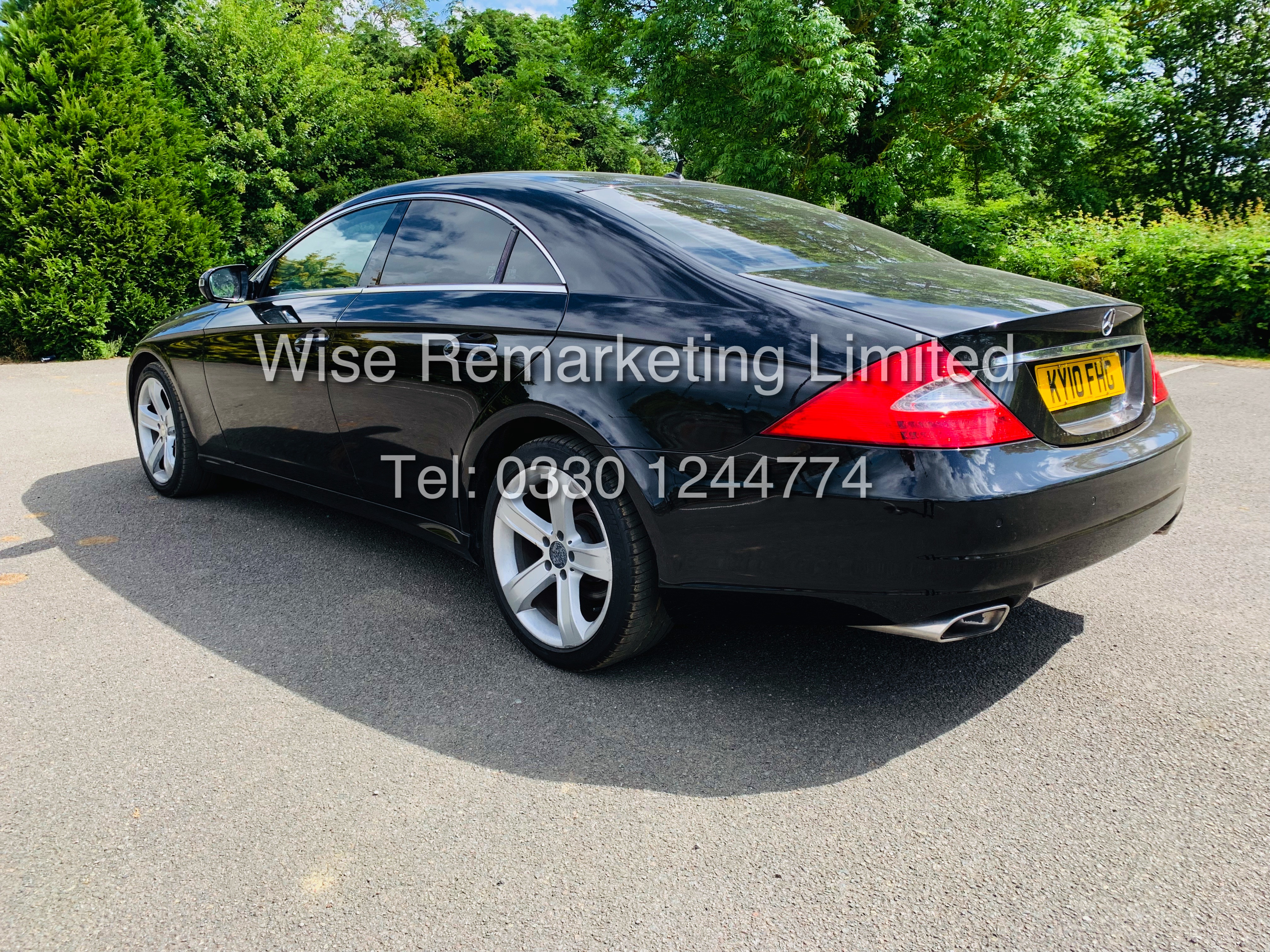 * RESERVE MET* MERCEDES CLS350 CDI SPORT COUPE AUTOMATIC (BLACK EDITION) 2010 / LOW MILES / NO VAT - Image 4 of 24