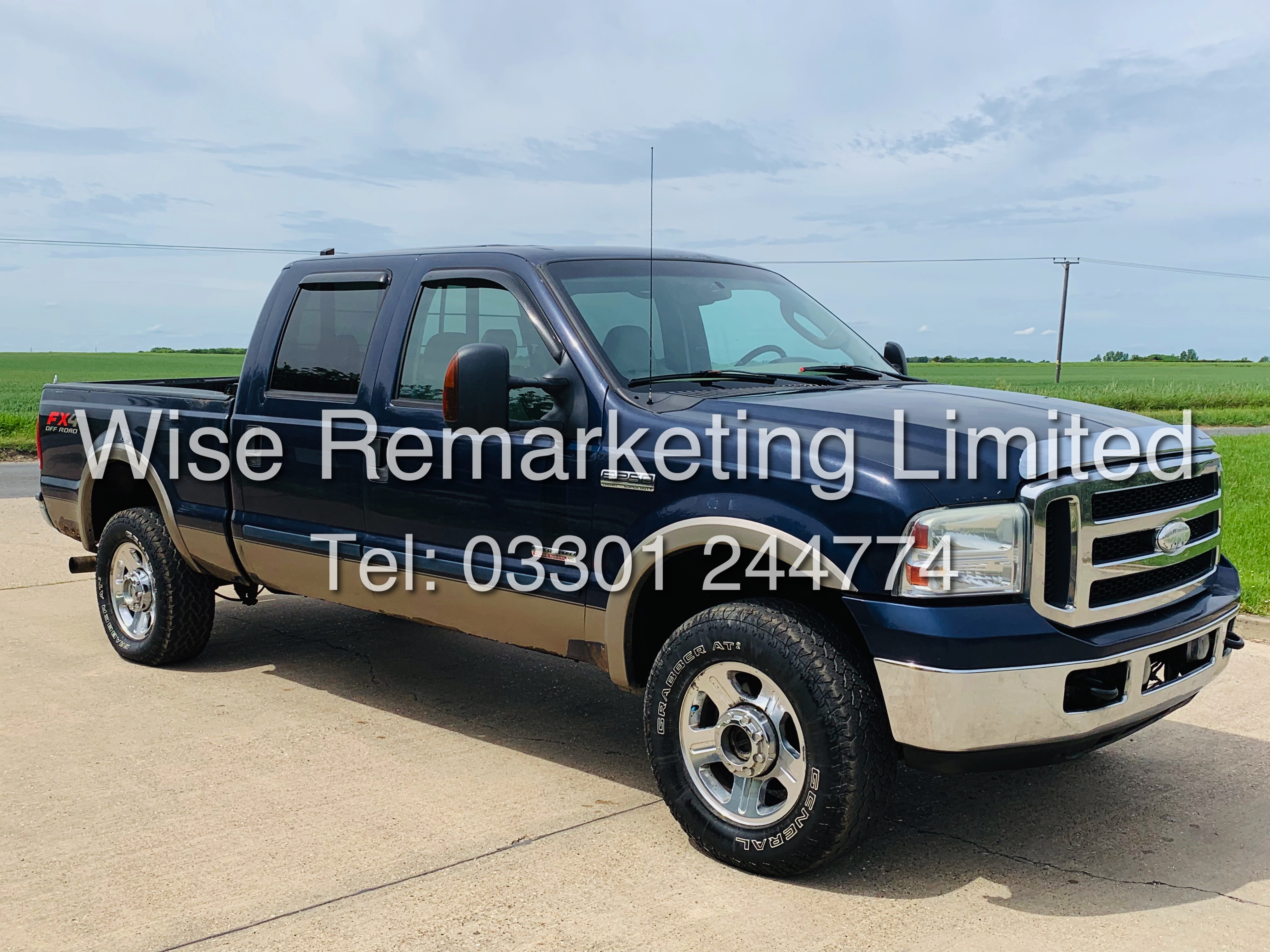 FORD F-250 6.0L V8**DIESEL**2007**4X4*LARIAT SPEC**DOUBLE-CAB**ULTRA RARE**FRESH IMPORT** - Image 5 of 18