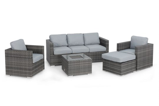 Rattan Georgia 3 Seat Sofa Set With Ice Bucket Feature (Grey) *BRAND NEW* - Image 4 of 4