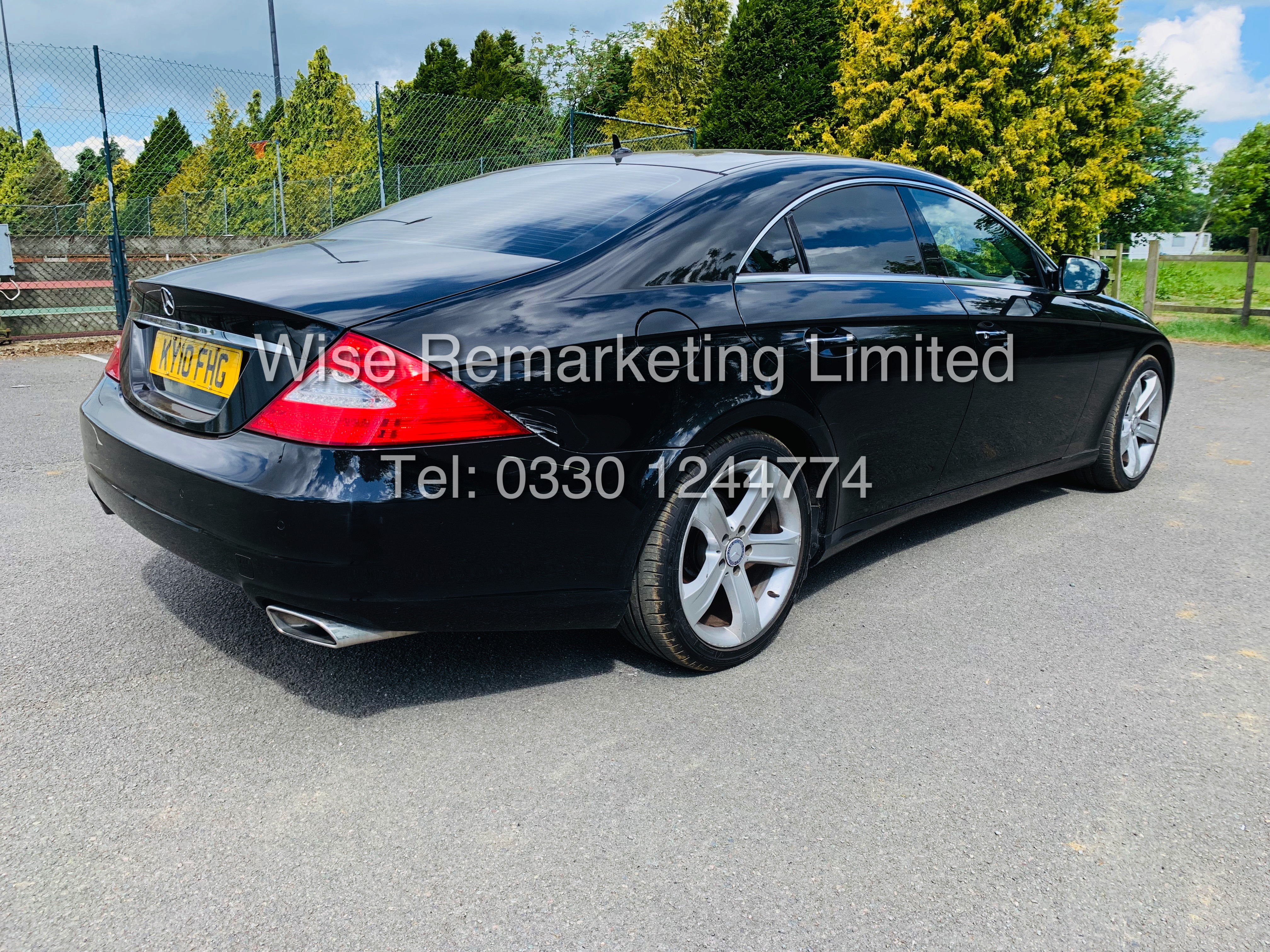 * RESERVE MET* MERCEDES CLS350 CDI SPORT COUPE AUTOMATIC (BLACK EDITION) 2010 / LOW MILES / NO VAT - Image 3 of 24