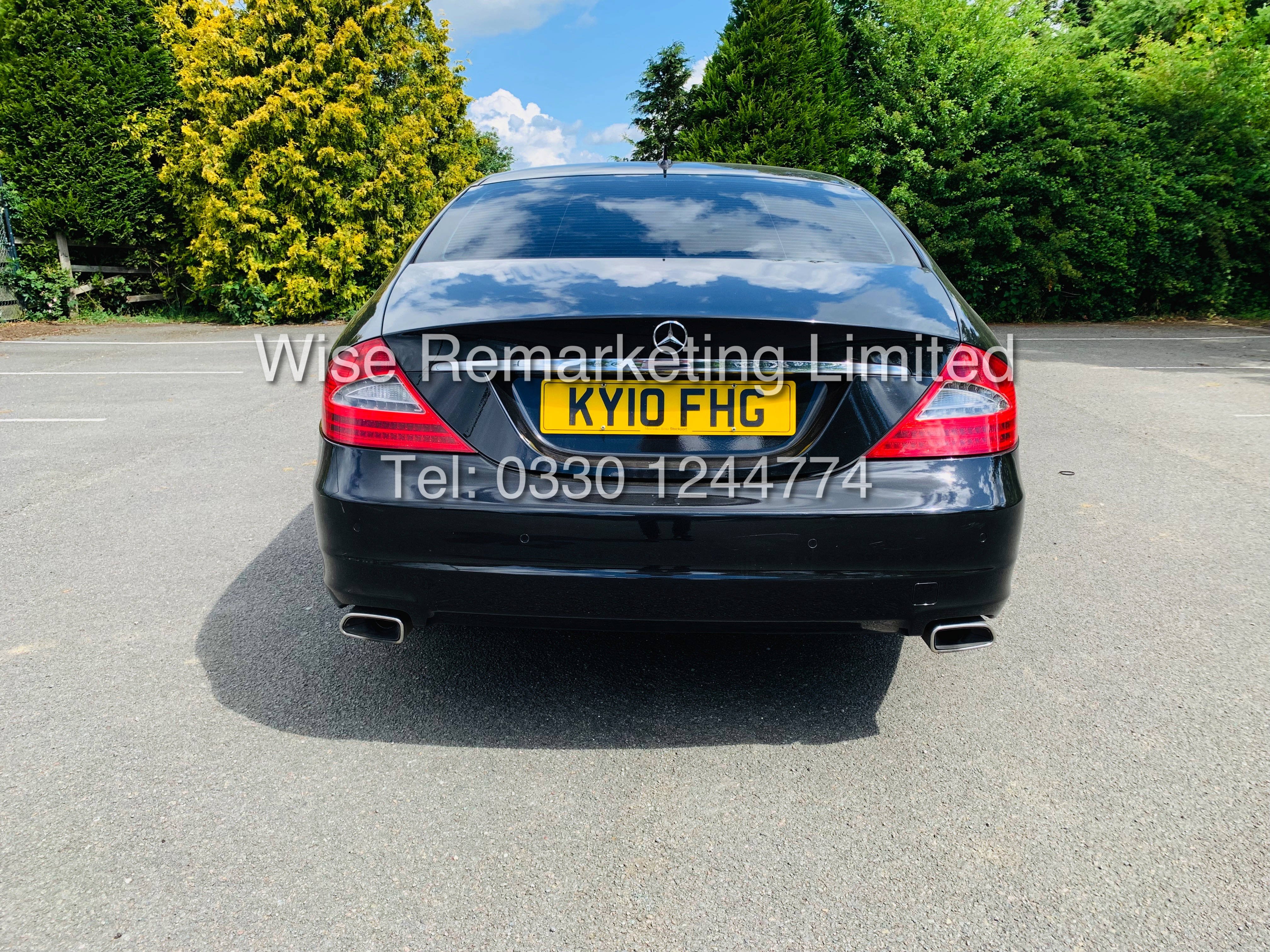 * RESERVE MET* MERCEDES CLS350 CDI SPORT COUPE AUTOMATIC (BLACK EDITION) 2010 / LOW MILES / NO VAT - Image 7 of 24