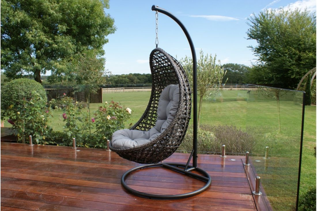 ** RESERVE MET** Rattan Malibu Hanging Chair (Grey) *BRAND NEW* - Image 2 of 2