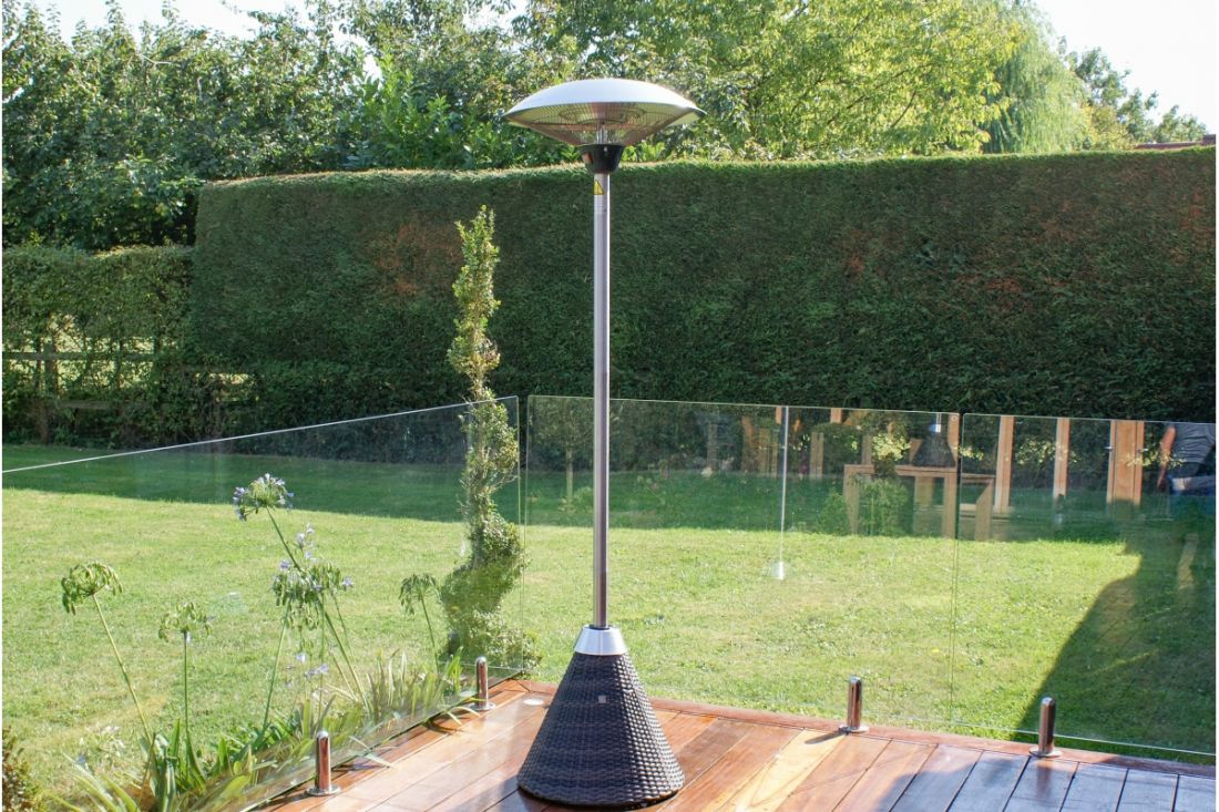 Rattan Tall Patio Mains Powered Heater (Brown) *BRAND NEW*