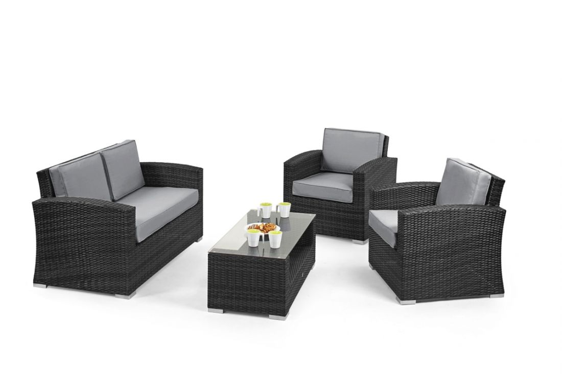 Rattan Kingston 2 Seat Sofa Set (Grey) *BRAND NEW* - Image 2 of 2