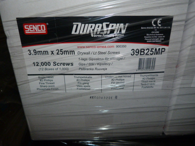 Lot 47 - *3 Cartons Containing 12,000 Duraspin 3.9 by 25 mm