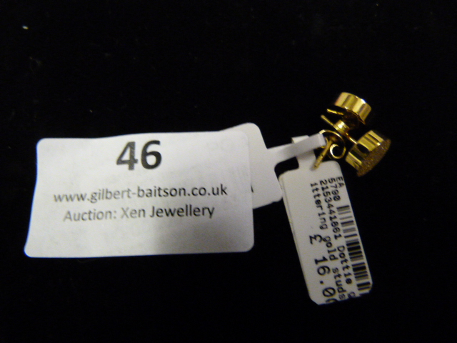 Lot 46 - *Pair of Dotty Studs (Shiny Gold)