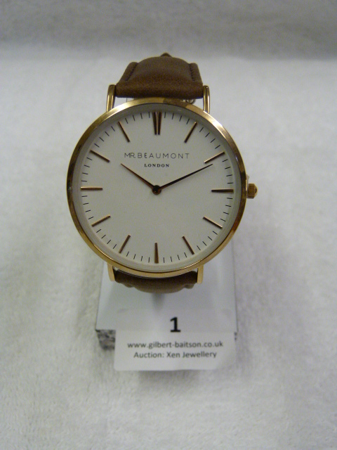Lot 1 - *Mr Beaumont of London Gents Wristwatch