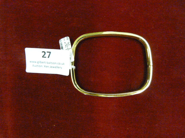 Lot 27 - *Edblad Large 101 Bangle (Gold)