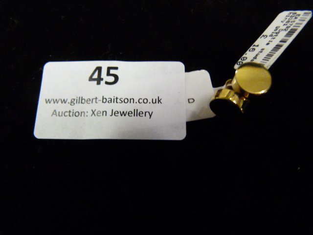 Lot 45 - *Pair of Dotty Studs (Shiny Gold)