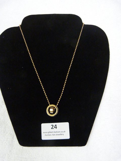 Lot 24 - *Edblad Mini Rose Gold Short Necklace