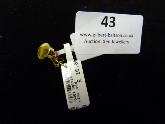 Lot 43 - *Pair of Dotty Studs (Shiny Gold)